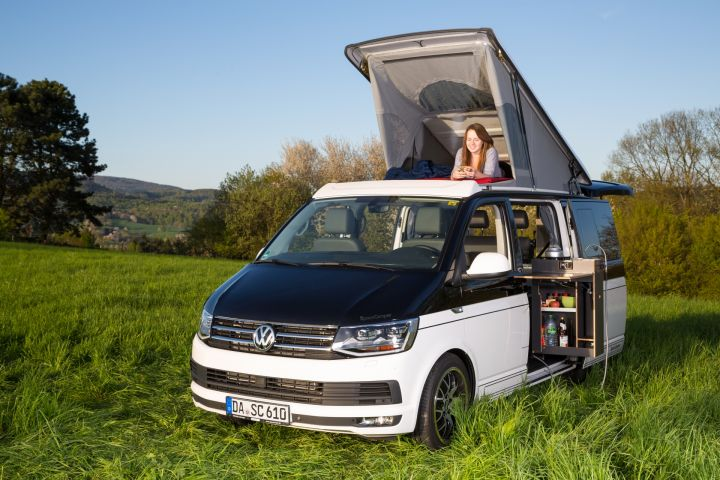 sc ausstattung der spacecamper vw t6 camping ausbau. Black Bedroom Furniture Sets. Home Design Ideas